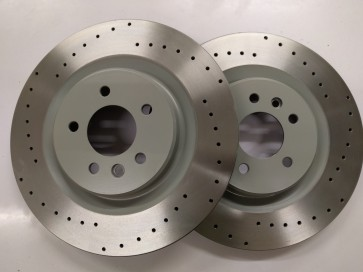 Evora Front Brake Discs (curved vane one piece)
