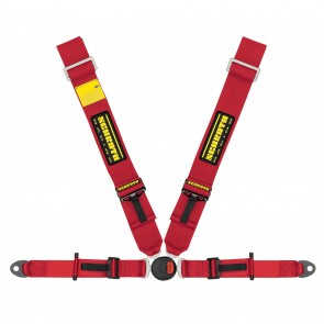 Schroth LOTUS II-FE - 4pt asm (Push Button release)  Harness in Red